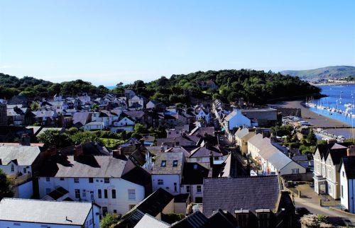welsh city wales blue sky