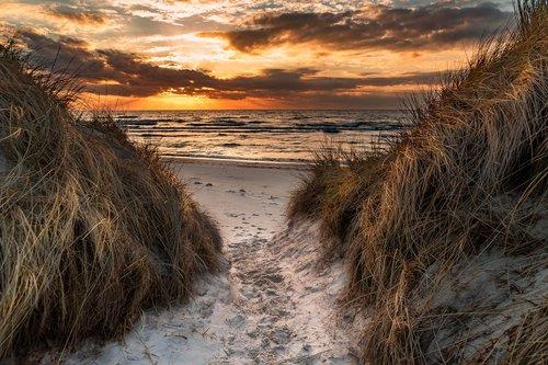 west beach  baltic sea  dunes