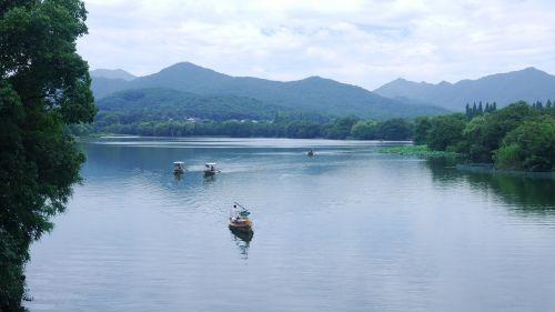 west lake landscape ship