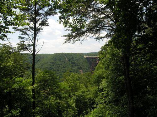 west virginia new river gorge landscape