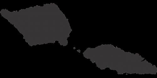 western samoa map silhouette