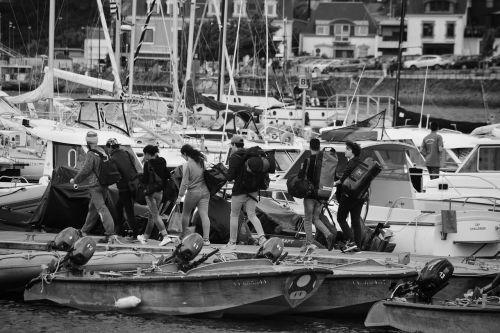 wharf boarding women