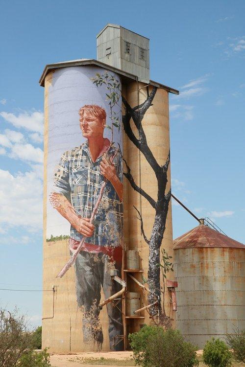 wheat silo  art  country victoria