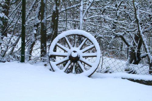 wheel winter snowed in
