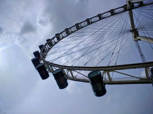 wheel singapore clouds