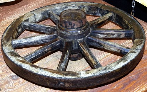 wheel car wooden