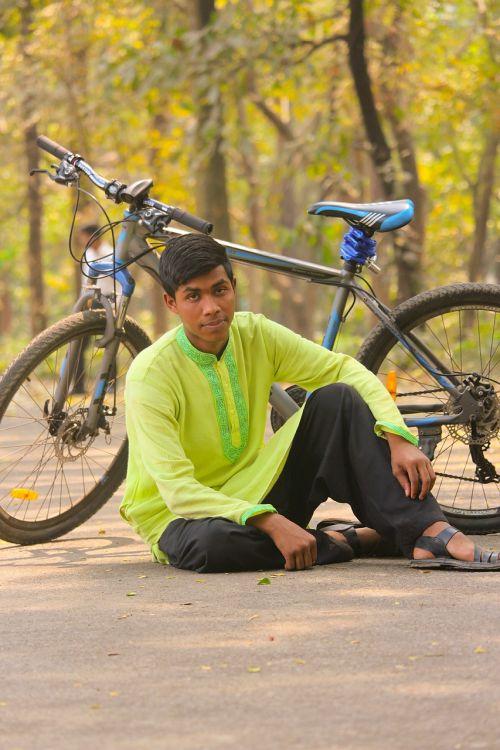 wheel bike man