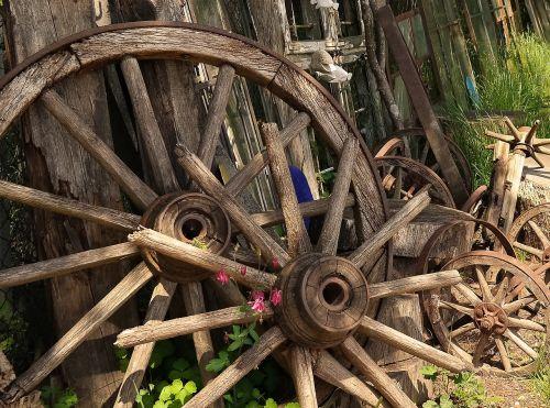 wheel wood wooden wheel