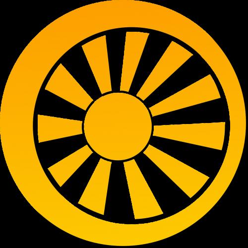 wheel spoke sun