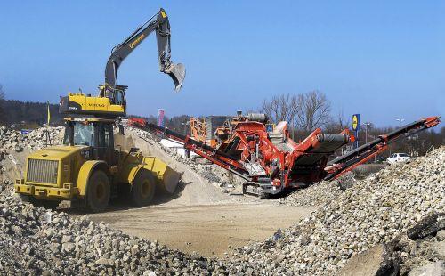 wheel loader excavators sorting grapple