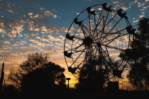 wheel of fortune  park  sky
