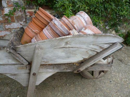 vežimėlis,augalų puodai,sodininkystė,įranga,sodininkystė,pavasaris