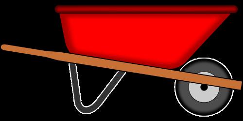 wheelbarrow tools gardening