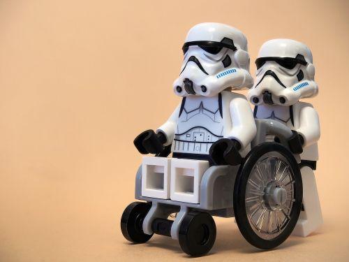 wheelchair stormtrooper lego