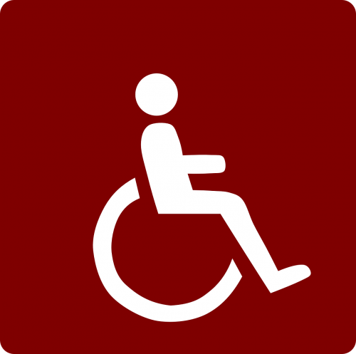wheelchair impaired red