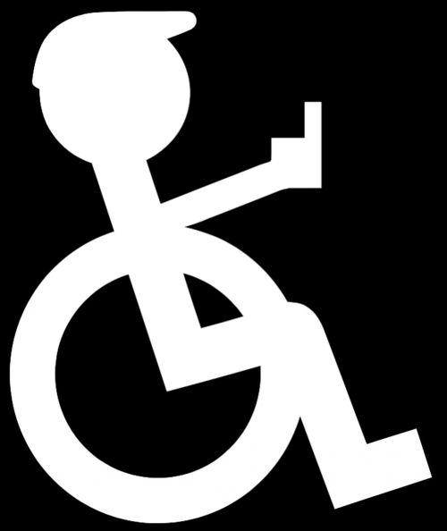wheelchair logo pictogram