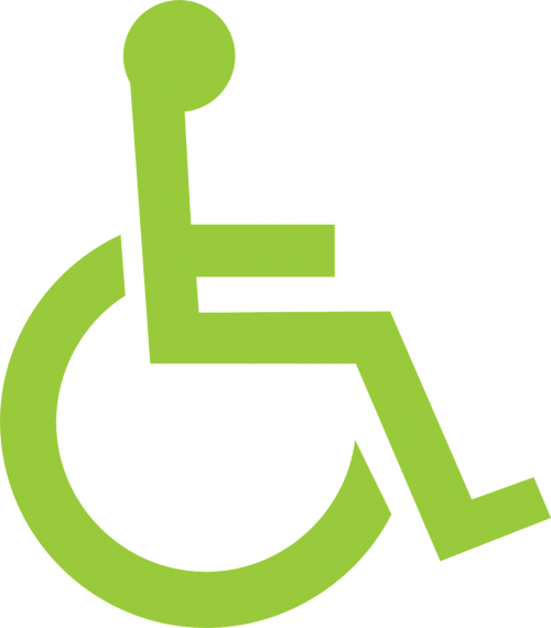 wheelchair person pictogram