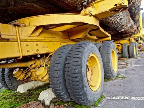 wheels log truck transport