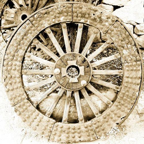 wheels old wood