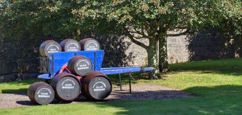 whiskey barrels cart