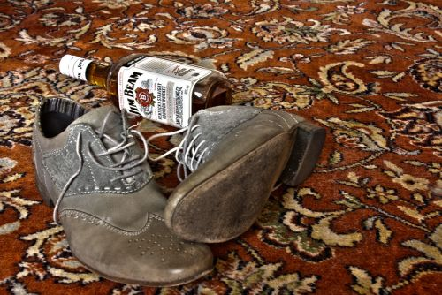 whisky shoes carpet