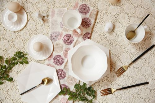 white tableware western-style