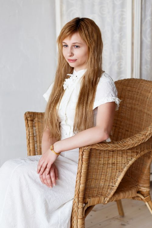 white white wall girl