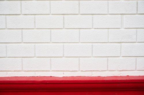 white  red  brick