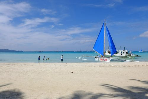 white beach boracay sky