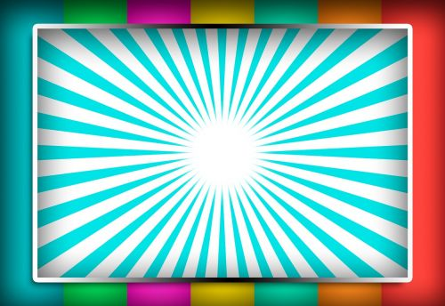 white board ad display rainbow colors