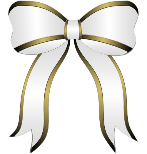 white bow gift party