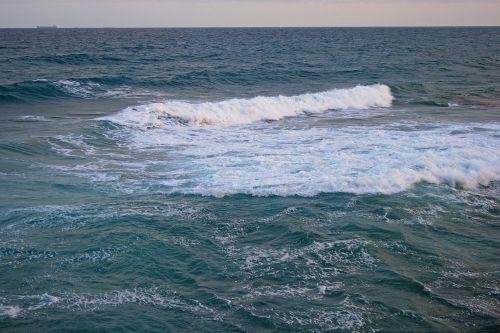 White Breaker In The Ocean