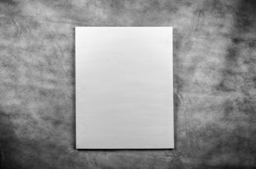 White Canvas On The Dark Background