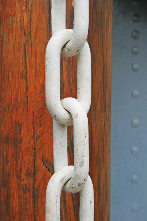 White Chain Links Close