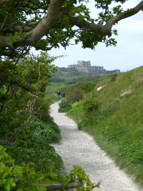 white cliffs dover castle coast