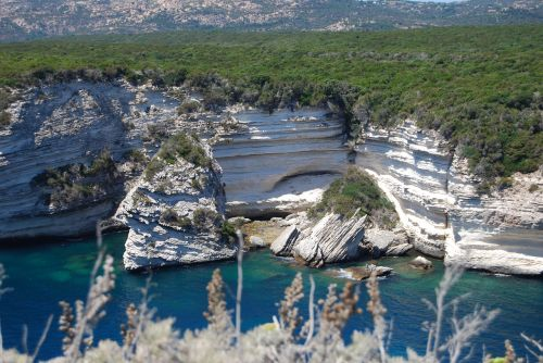 white cliffs corsica cliff