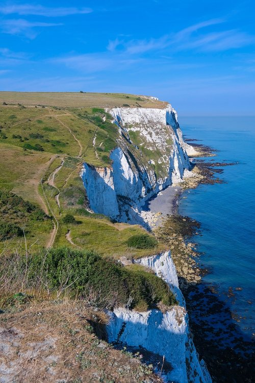 white cliffs  coast  cliff