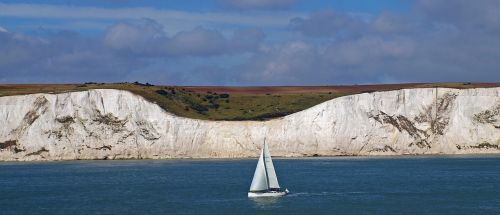 white cliffs dover coast