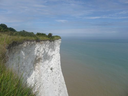 white cliffs england sea