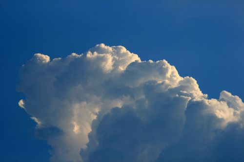 White Cloud With Blue Shades