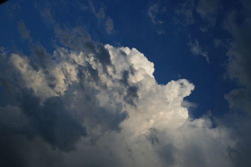 White Cloud With Dark Wisps