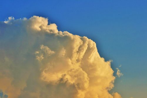 White Cloud With Yellow Tint