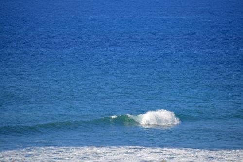 White Crest On Blue Ocean