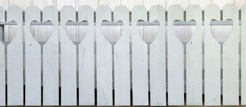 White Fence With Hearts
