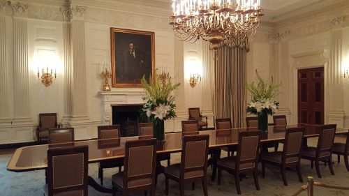 white house dining room abraham lincoln