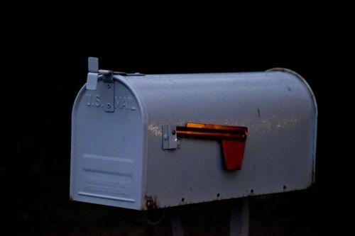 White Mailbox Red Flag