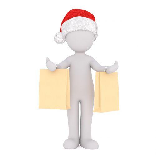 baltas vyriškas,3d modelis,Viso kūno,3d santa hat,Kalėdos,santa skrybėlė,3d,balta,izoliuotas,apsipirkimas,pirkinių maišeliai,maišeliai,maišas,Kalėdų Senelis,x mas,xmas