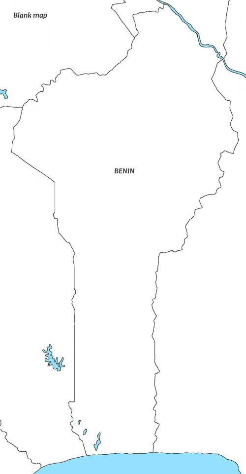 white map beniin benin