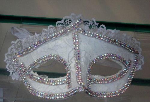 White Masquerade Dance Mask