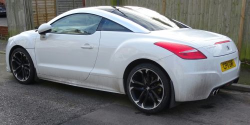 White Peugeot RCZ Car Rear
